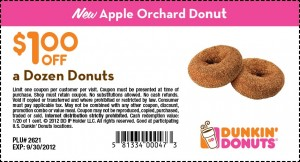 Dunkin Donuts Coupon - September 2012