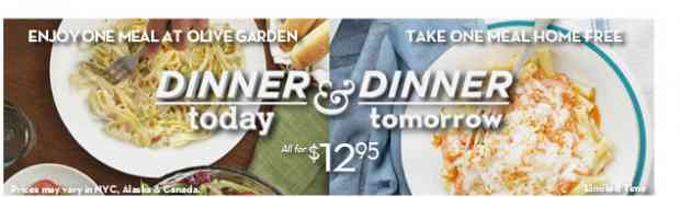 FREE Meal from Olive Garden